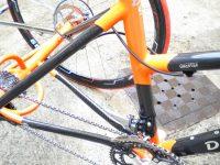 Carbone / Acier fourche carbone  Axe des roues et les moyeu «TRYKIT» bases et haubans en carbone, 2 freins disques