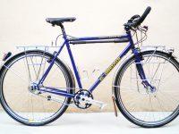 MONTAGE SHIMANO DEORE XT, roues 700, éclairage moyeu dynamo SON, moyeu AR ROHLOFF, porte-bagages en tube de 8 mm chromé